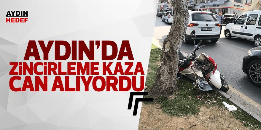 Motorsikleti sürücü ağaca çarptı