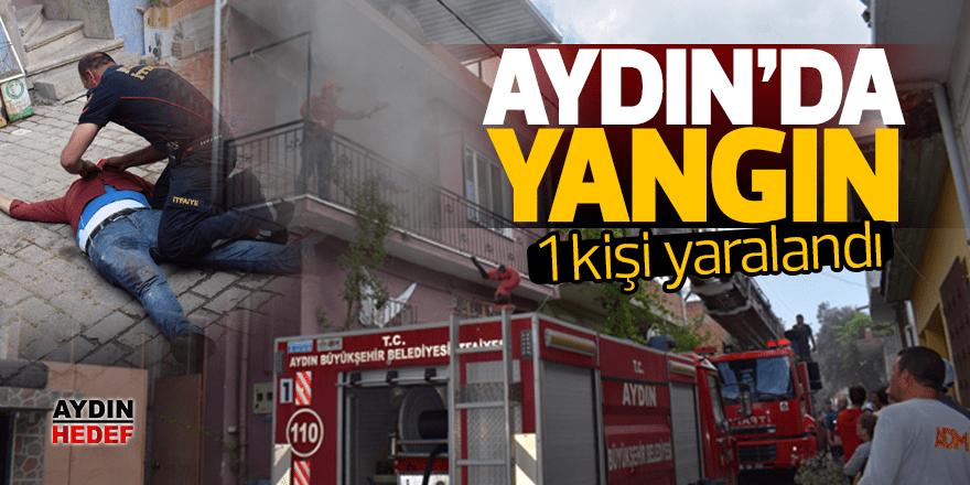 Aydın'da ev yangını: 1 yaralı