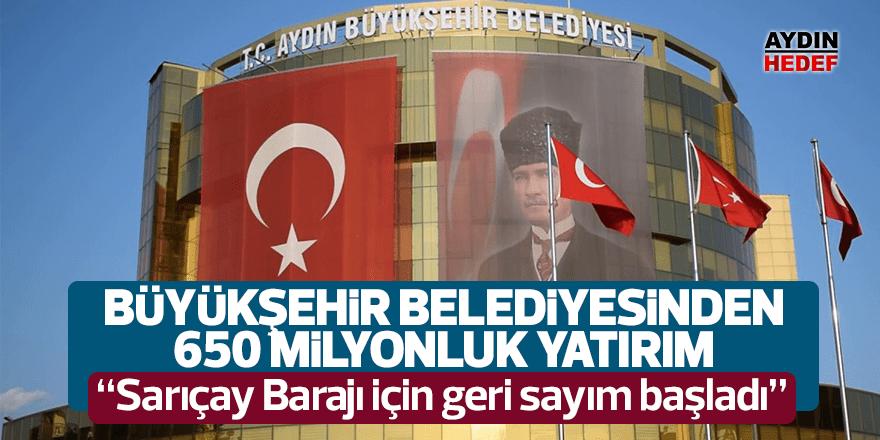 """""""Sarıçay Barajı için geri sayım başladı"""""""