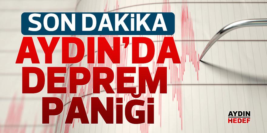 Aydın'da deprem paniği