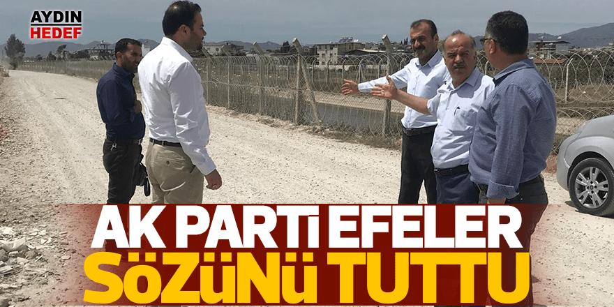 AK Parti Efeler'deki yol sözünü tutuyor