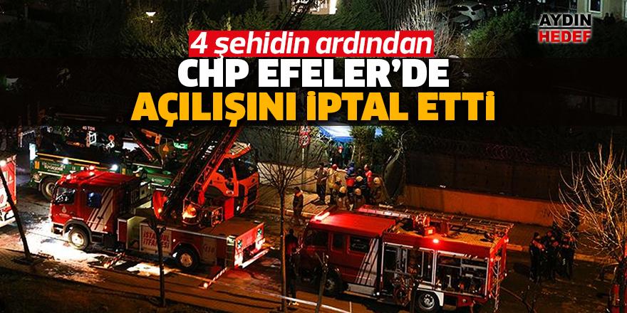 CHP açılışı iptal etti