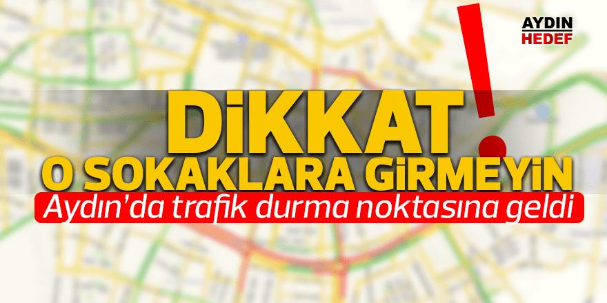 Aydın'da beklenen yağışların başlamasıyla trafikte de yoğunluk oluştu.