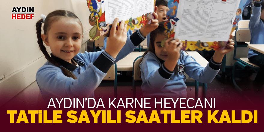 Aydın'da 179 bin öğrenci karne alacak