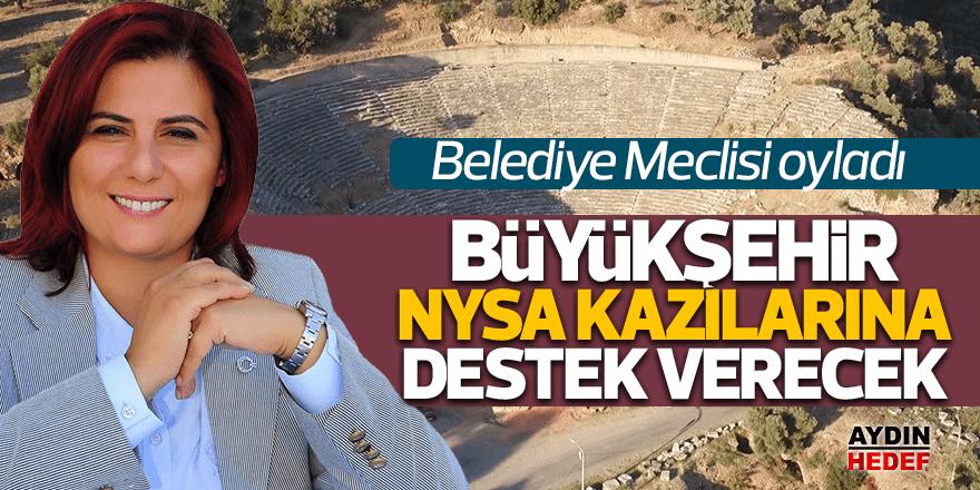 Büyükşehirden Nysa kazılarına 110 bin lira destek