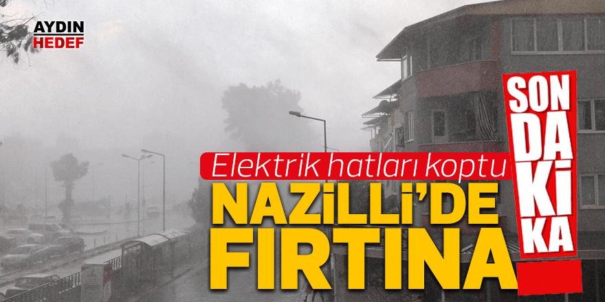 Nazilli'de sağanak yağış etkisini gösterdi.