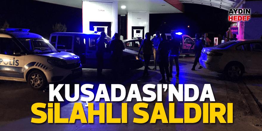 Kuşadası'nda gaz istasyonuna silahlı saldırı