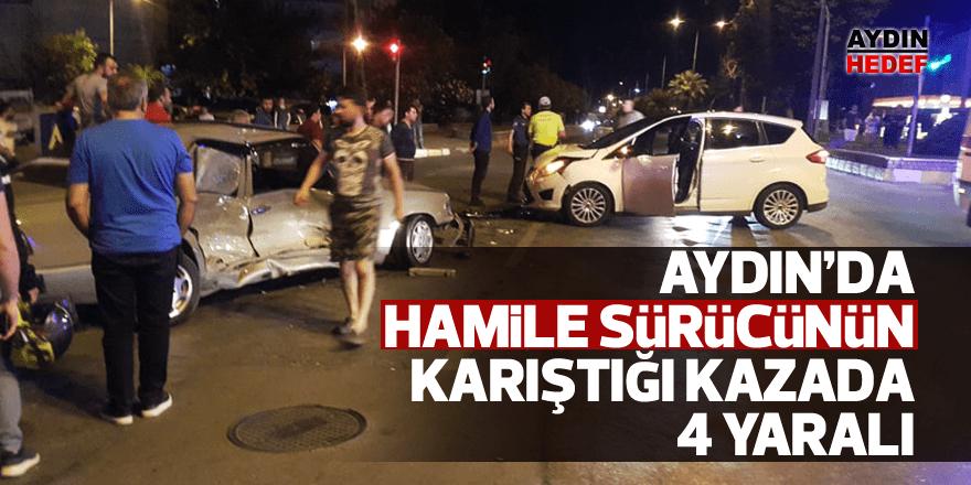 Hamile sürücünün karıştığı kazada 4 yaralı