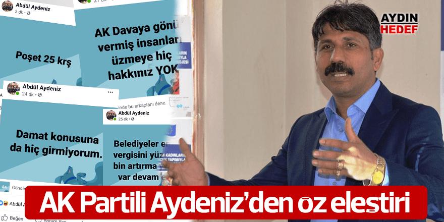 AK Partili Aydeniz'den öz eleştiri