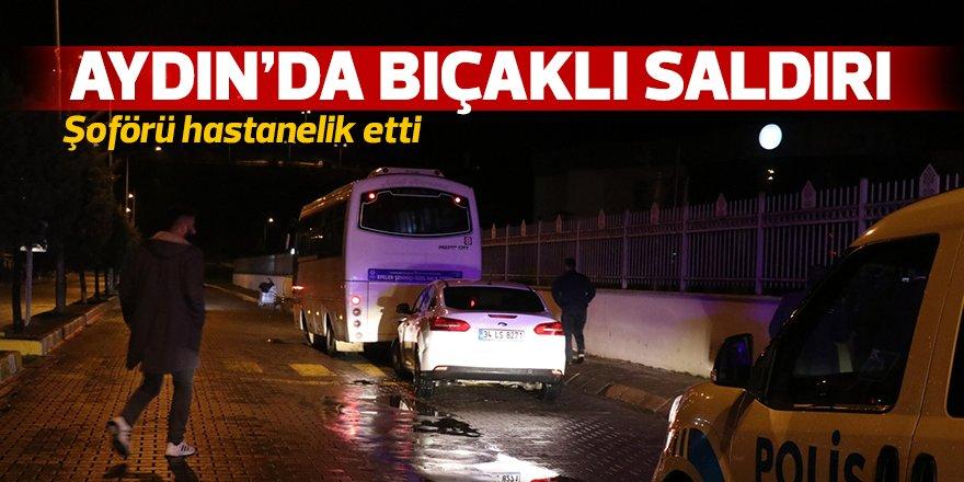 Aydın'da bıçaklı saldırı