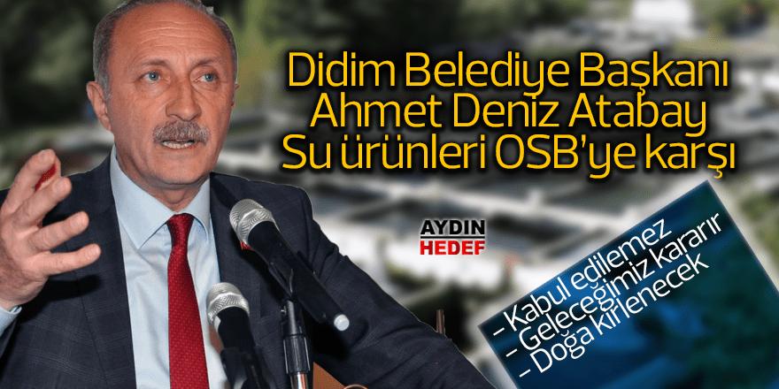 Atabay, Su Ürünleri OSB'ye karşı çıktı
