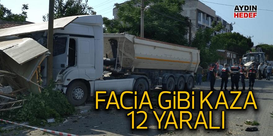 İzmir'de işçileri taşıyan minibüsler tırla çarpıştı: 12 yaralı