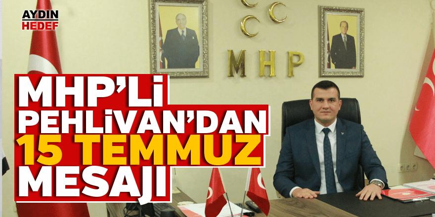 "MHP'li Pehlivan: ""Muhasebesini yapacağız"""