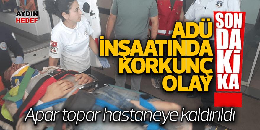 Aydın'da inşaat işçisi yaralandı