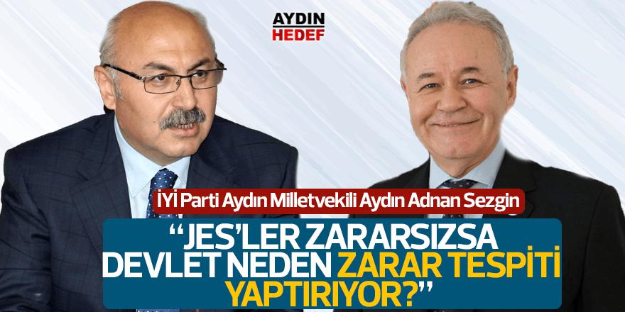 """İYİ Partili Sezgin: """"JES'ler zararsızsa devlet neden zarar tespiti yaptırıyor?"""""""
