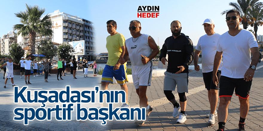 Başkan Günel vatandaşlarla sabah sporu yaptı