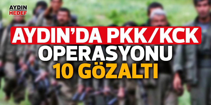 Aydın'da PKK/KCK operasyonu 10 gözaltı