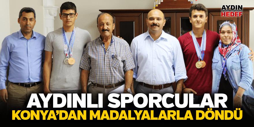 Konya'dan madalyalarla döndüler