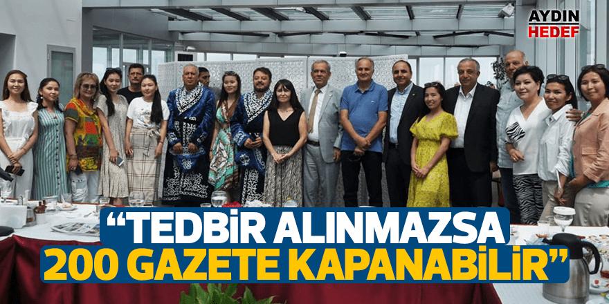 """""""TEDBİR ALINMAZSA 200 GAZETE KAPANABİLİR"""""""