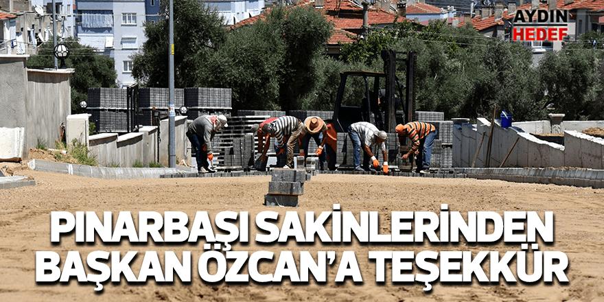 Pınarbaşı sakinlerinden Başkan Özcan'a teşekkür