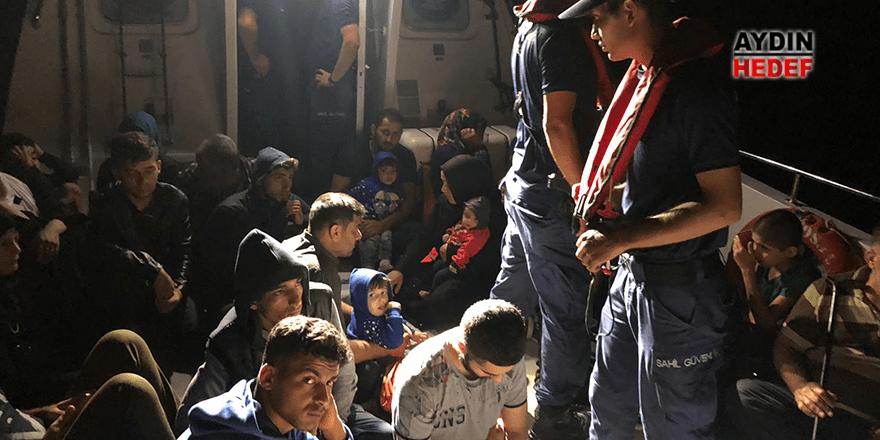 Didim'de 66 düzensiz göçmen yakalandı