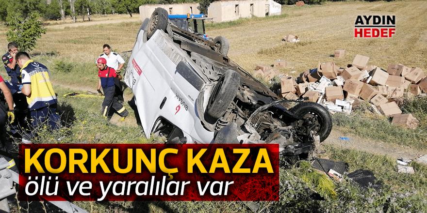Denizli'de trafik kazası: 1 ölü, 1 yaralı