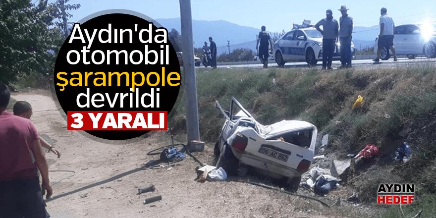 Aydın'da otomobil şarampole devrildi: 3 yaralı