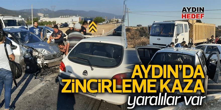 Didim'de 3 araç birbirine girdi: 3 yaralı