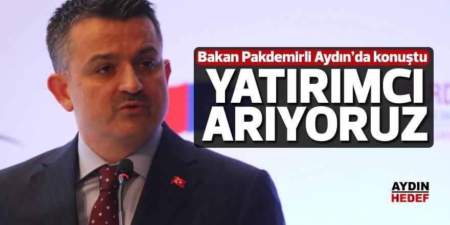 Bakan Pakdemirli Aydın'da konuştu