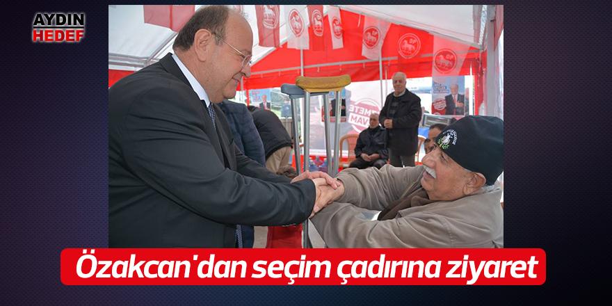 Özakcan'dan seçim çadırına ziyaret
