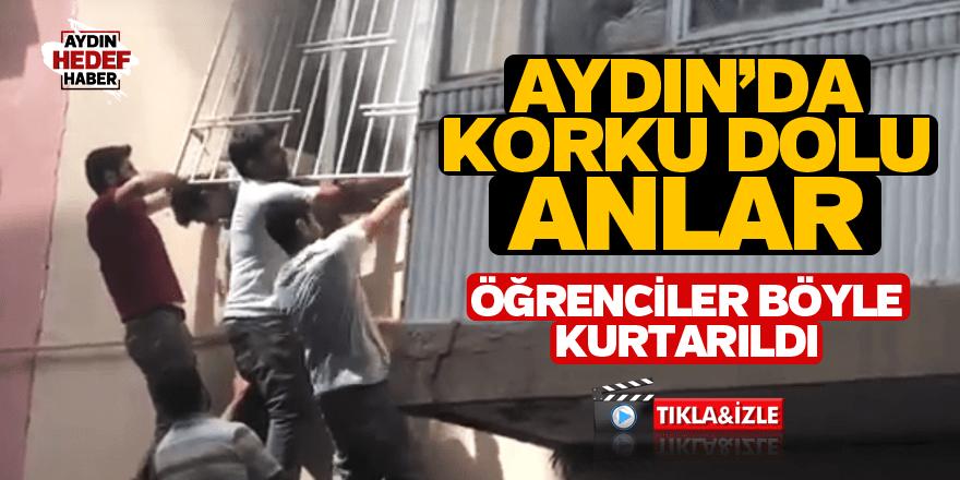 Aydın'da öğrenciler böyle kurtarıldı