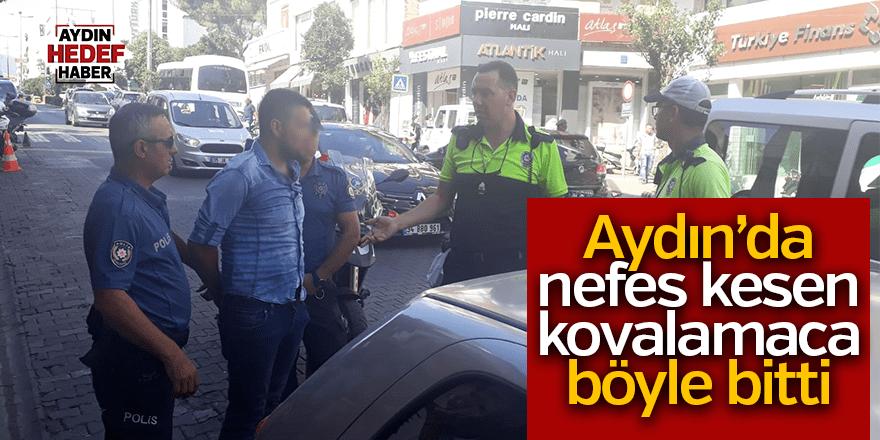 Aydın'da ehliyetsiz sürücü polisten kaçamadı