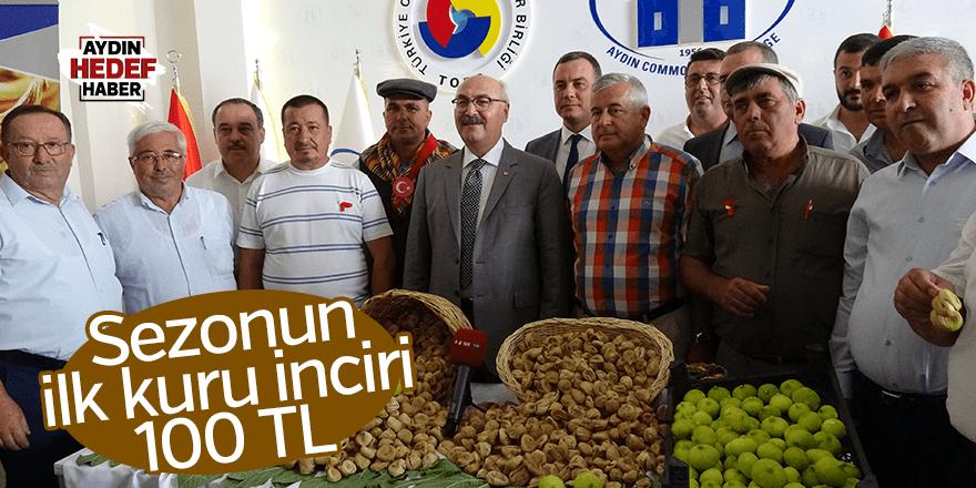 Sezonun ilk kuru inciri 100 TL'den alındı