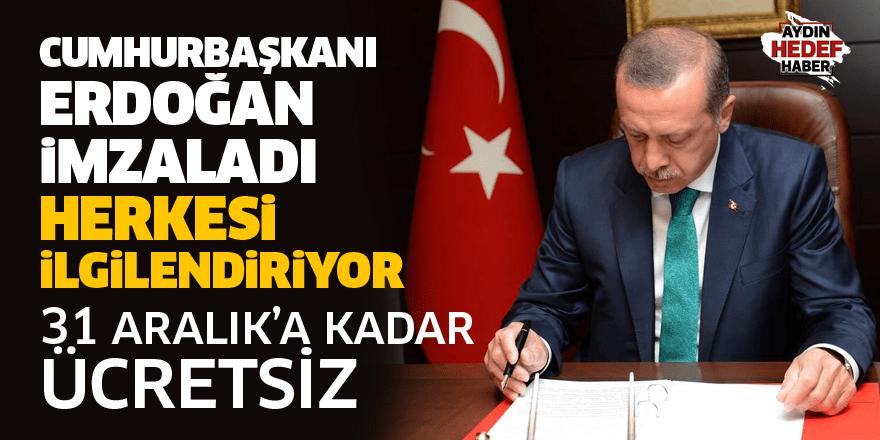Cumhurbaşkanı Erdoğan imzaladı