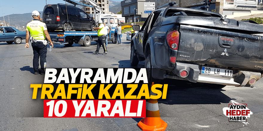 Denizli'de trafik kazaları: 10 yaralı