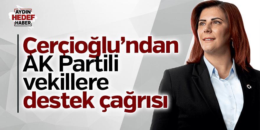 Çerçioğlu'ndan AK Partili vekillere destek çağrısı