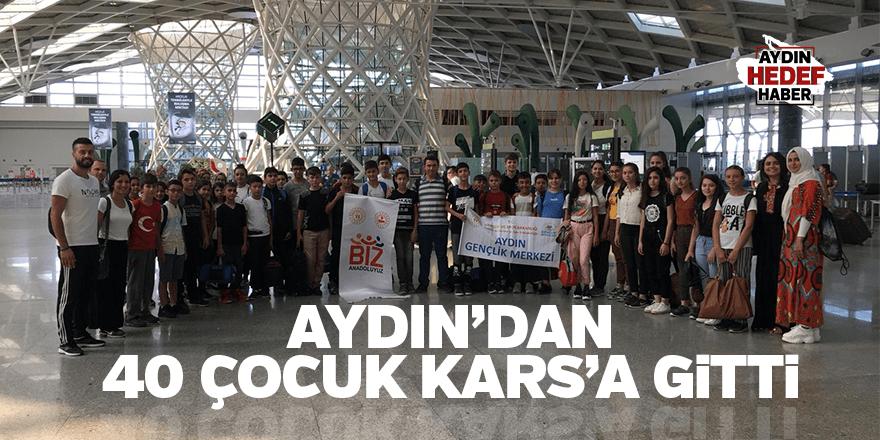 AYDIN'DAN 40 ÇOCUK KARS'A GİTTİ