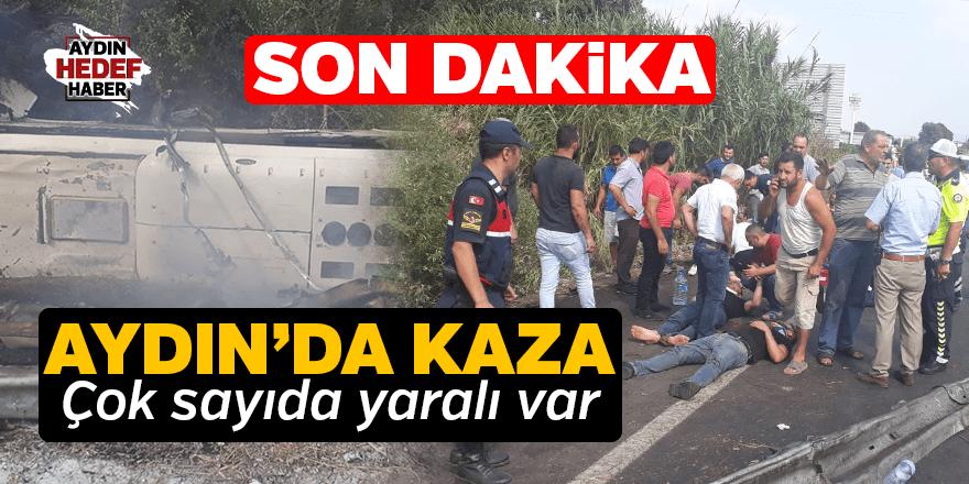 İşçileri taşıyan otobüs devrildi