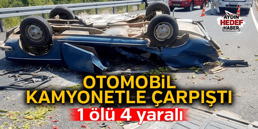 Muğla'da otomobil kamyonetle çarpıştı: 1 ölü, 4 yaralı