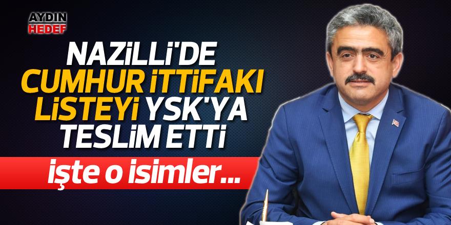 Nazilli'de Cumhur İttifakı listeyi YSK'ya teslim etti