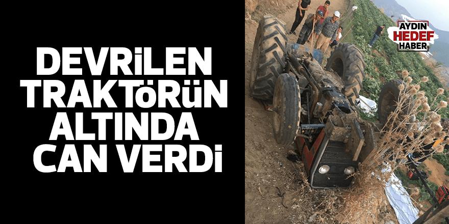 İzmir'de traktör kazası