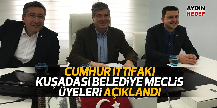 Cumhur İttifakı Kuşadası Belediye Meclis Üyeleri