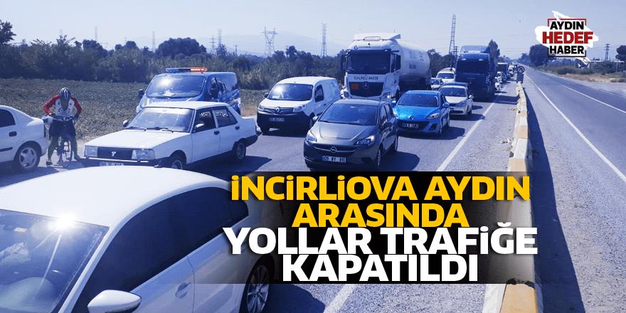 Aydın'da yollar trafiğe kapatıldı