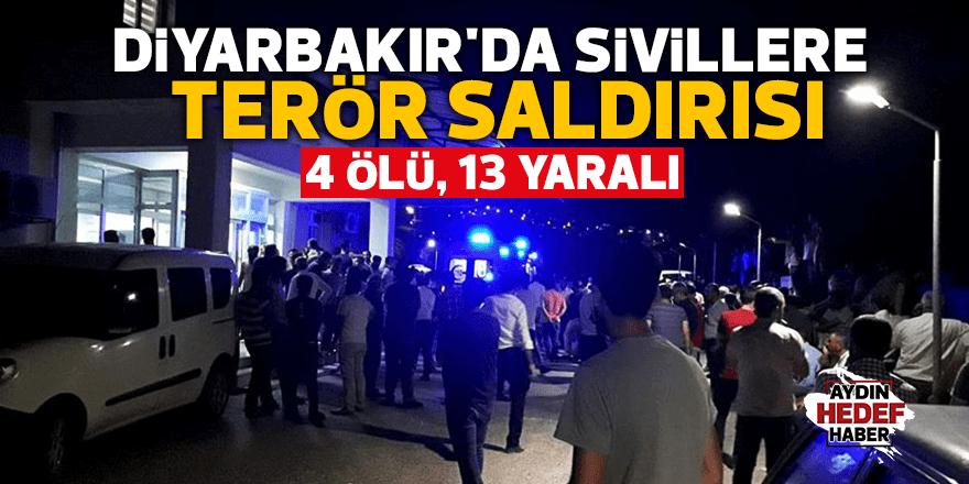 Diyarbakır'da sivillere terör saldırısı: 4 ölü, 13 yaralı