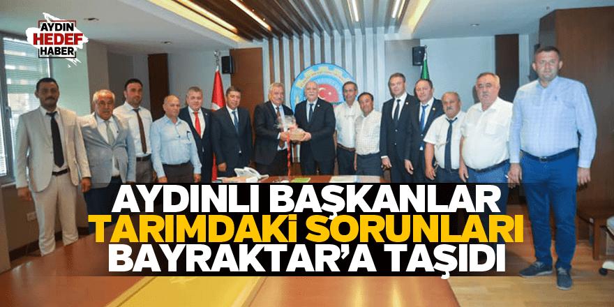 Aydınlı başkanlar tarımdaki sorunları Bayraktar'a taşıdı