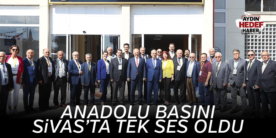 Anadolu basını Sivas'ta tek ses oldu