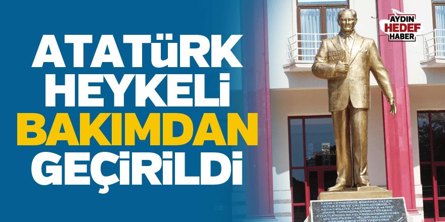 Atatürk Heykeli bakımdan geçirildi