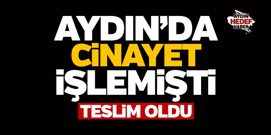 Aydın'daki cinayetin zanlısı teslim oldu