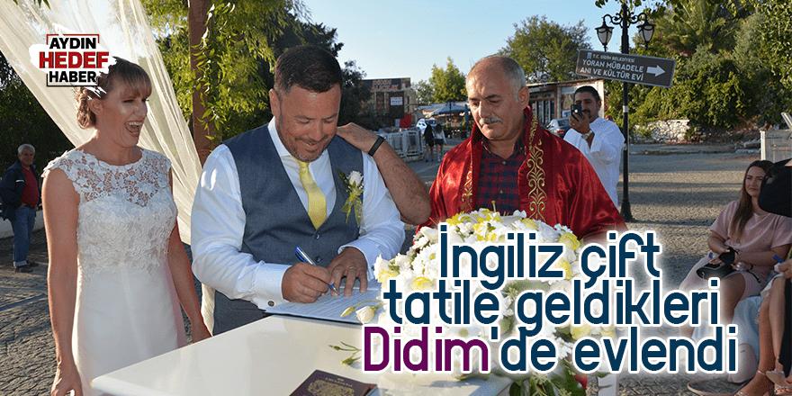 İngiliz çift, tatile geldikleri Didim'de evlendi