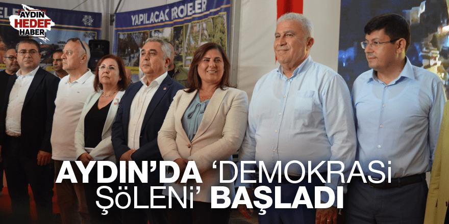 Aydın'da 'Demokrasi Şöleni' başladı